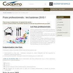 Frais professionnels: les barèmes 2015 ! - Cabinet d'expertise comptable