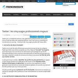 Twitter : les cinq usages professionnels majeurs