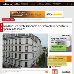 """Loi Alur: les professionnels de l'immobilier contre le """"permis de louer"""" - 26/12/17"""
