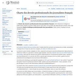 Charte des devoirs professionnels des journalistes français