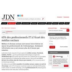 63% des professionnels IT à l'écart des médias sociaux - Journal du Net Solutions