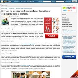 Services de ménage professionnels par la meilleure compagnie dans le domaine by Moncef Menage