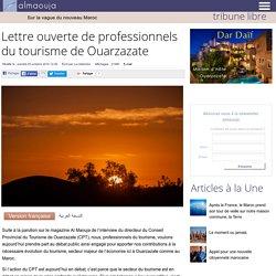 Lettre ouverte de professionnels du tourisme de Ouarzazate