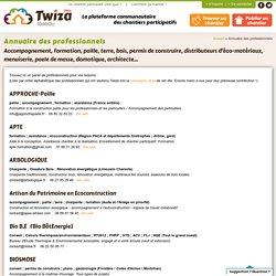 Annuaire des professionnels - Twiza - Les chantiers participatifs