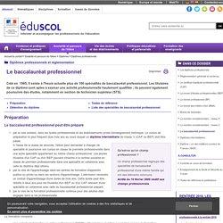 Baccalauréat professionnel liste ( Eduscol)