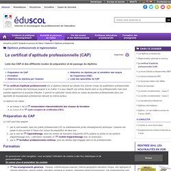 Diplômes professionnels - Le certificat d'aptitude professionnelle (CAP)