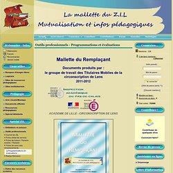 La mallette du ZIL - Outils professionnels - Programmations et évaluations