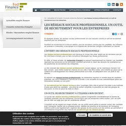 Les réseaux sociaux professionnels, un outil de recrutement - Fed Finance