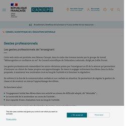 Gestes professionnels - Conseil scientifique de l'éducation nationale - Réseau Canopé