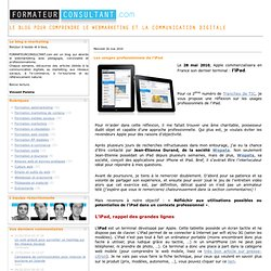 Les usages professionnels de l?iPad