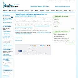 Coût de rachat de trimestres de retraite applicable aux professions libérales (Barème 2012
