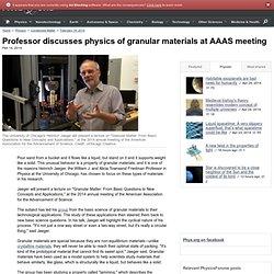 Professor discusses physics of granular materials at AAAS meeting
