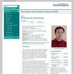 Professor Lie-Liang Yang