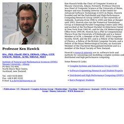 Professor Ken Hawick