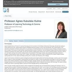 Professor Agnes Kukulska Hulme - People Profiles - Open University