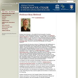 UNESCO/COL Chair Rory McGreal