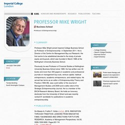 Professor Mike Wright