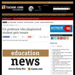 UA professor who plagiarized student gets tenure
