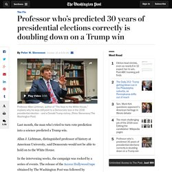 Professor who's predicted 30 years of presidential elections correctly is doubling down on a Trump win
