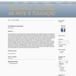 Seminário Nacional de Arte e Educação