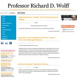 Professor Richard D. Wolff | Economics Professor