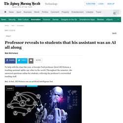 Professor reveals to students that his assistant was an AI all along