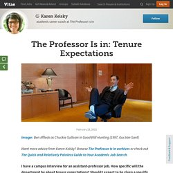 The Professor Is in: Tenure Expectations
