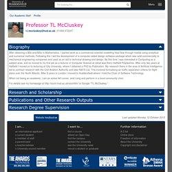 Professor TL McCluskey - Profile