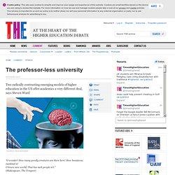 Opinion: the professor-less university