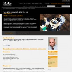 Le corps professoral de l'ESSEC Business School - CV des professeurs