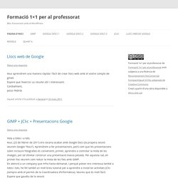Bloc funcionant amb el WordPress