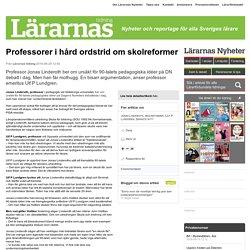 Professorer i hård ordstrid om skolreformer