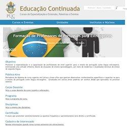 CCE PUC-Rio - Formação de Professores de Português para Estrangeiros