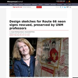 Design sketches for Route 66 neon signs rescued, preserved by UNM professors
