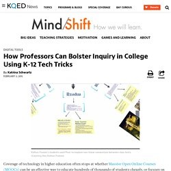 How Professors Can Bolster Inquiry in College Using K-12 Tech Tricks