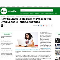 How to Email Professors at Prospective Grad Schools - and Get Replies