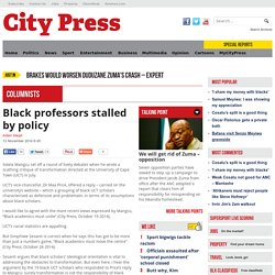 Black professors stalled by policy