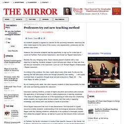 Professors try out new teaching method | The Fairfield Mirror