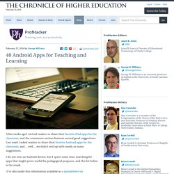 40 Android Apps for Teaching and Learning