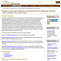 English Language Proficiency Assessments for California (ELPAC) - Testing