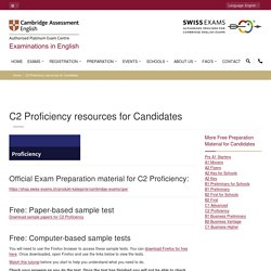 Official Cambridge English C1 Proficiency resources for Candidates