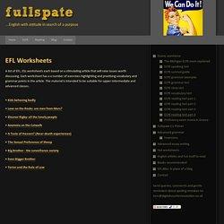 Advanced - proficiency English EFL/ESL worksheets