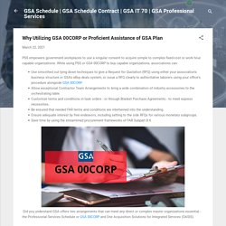 Why Utilizing GSA 00CORP or Proficient Assistance of GSA Plan