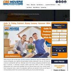 Moving Services Vancouver: Looking for Best Movers