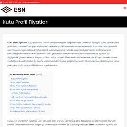 Kutu Profil Fiyatları (Uygun Fiyat Hızlı Sevkiyat) - ESN Metal