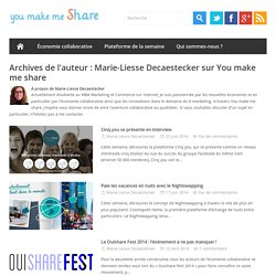 Profil de Marie-Liesse DecaesteckerYou make me share