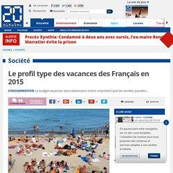 Le profil type des vacances des Français en 2015