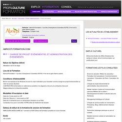 Abricot-Formation.com / Chargé de projet événementiel et administration des événements