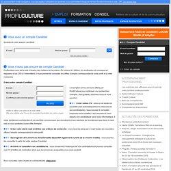le site emploi formation des métiers de la culture et de la communication