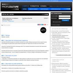 ProfilCulture, Guide-conférenciers et médiateurs culturels bilingues h/f, Des Mots et Des Arts, Paris